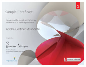 Adobe-Sample Certificate