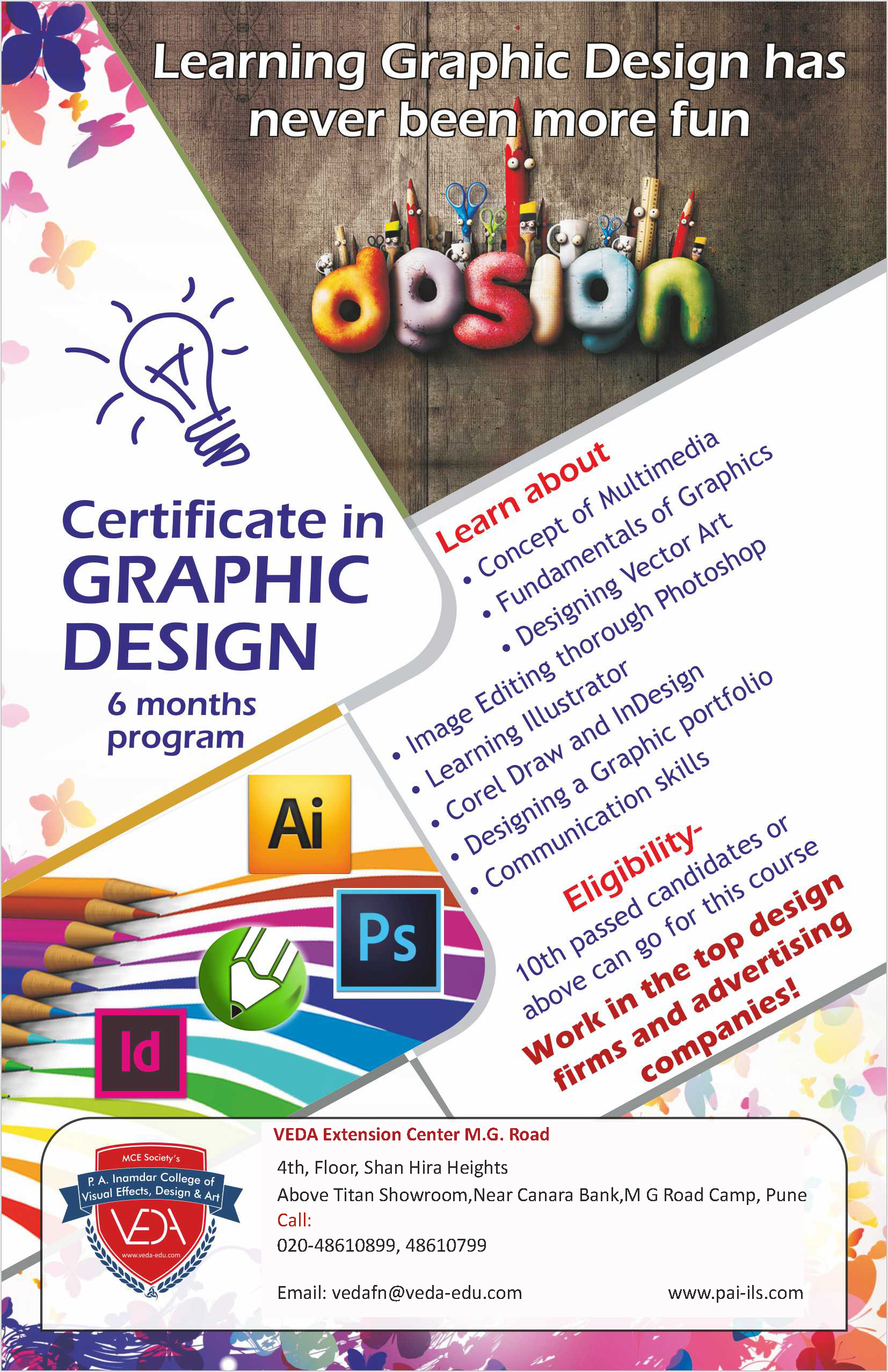 Certificate Course In Advertising Graphic Designing