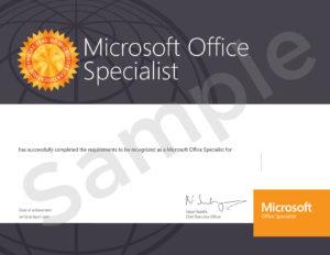 MOS-Sample Certificate