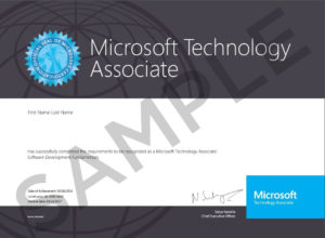 MTA-Certificate_Sample