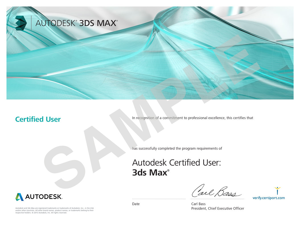 Autodesk 3 d max certificate pai ils autodesk 3d max certificate 1betcityfo Image collections