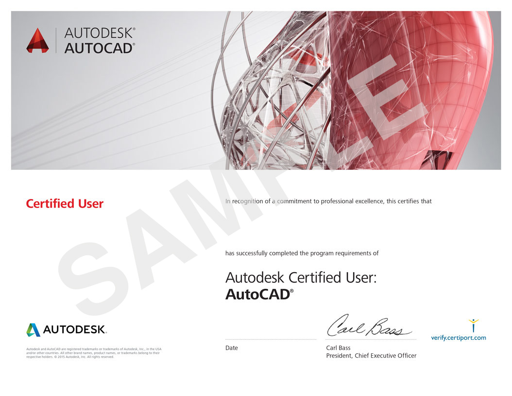 Autodesk-AutoCAD Certificate