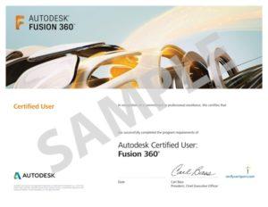 Autodesk-Fusion Certificate