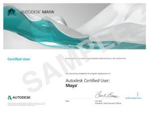 Autodesk-MAYA Certificate